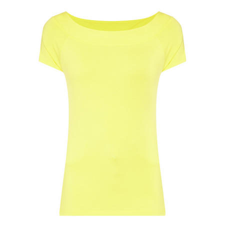 Boat Neck Top Yellow