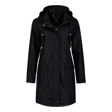 Flap Pocket Raincoat Black