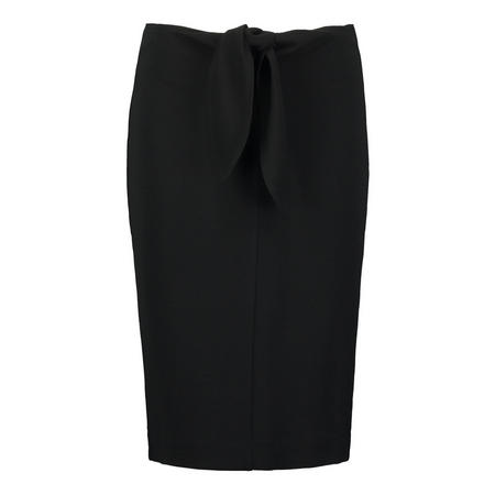 Front Bow Pencil Skirt Black