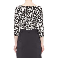 Monochrome Print Top Black & White