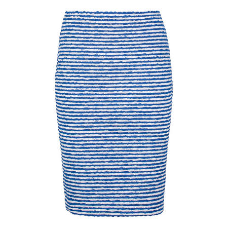 Textured Striped Skirt Multicolour