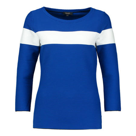 Stripe Jersey Top Blue