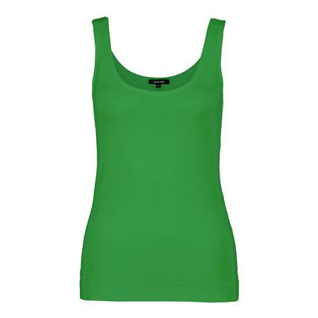 Basic Scoop Neck Tank Top Green