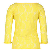 Long Sleeve Lace Top Yellow
