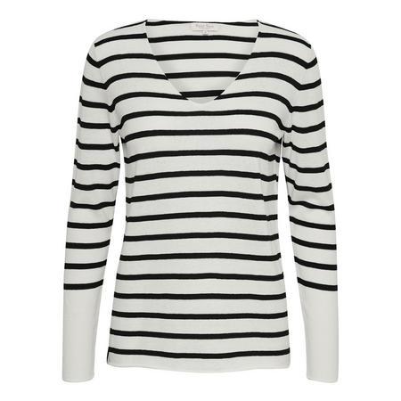Kosta Striped Sweater Black
