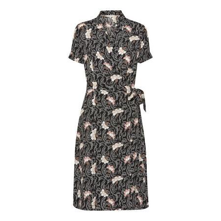 Kaisa Floral Print Dress Black