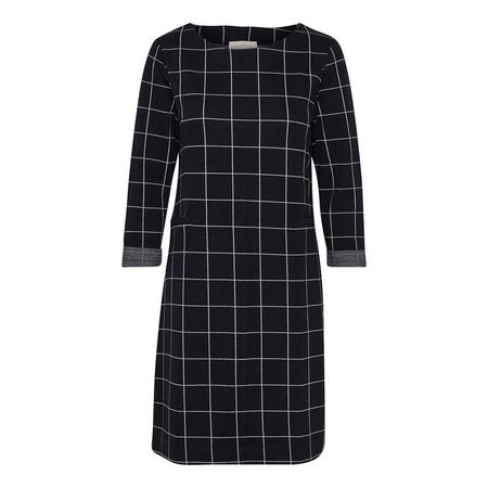 Fairtone Grid Pattern Dress Blue