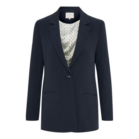 Kylie Single-Breasted Blazer Blue