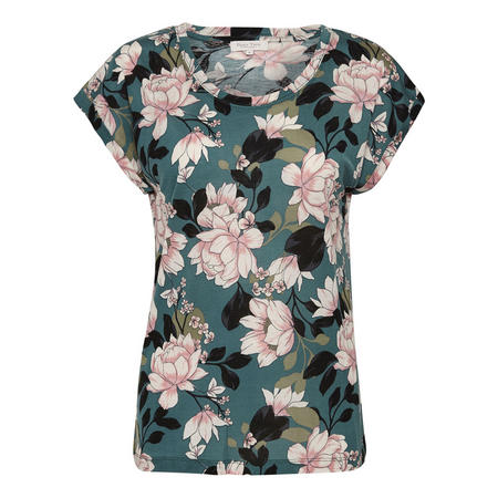 Krianne Floral Top Green