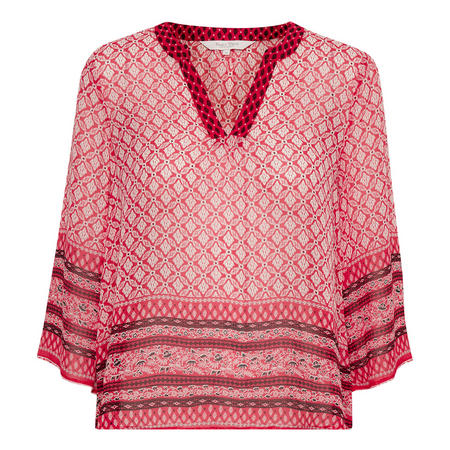 Knox Tunic Blouse Red