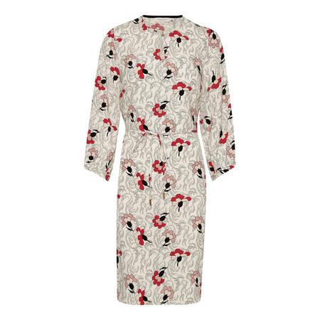 Kornelia Floral Print Dress Red