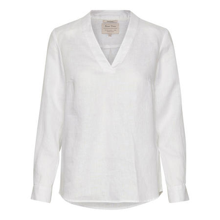 Gadine V-Neck Top White