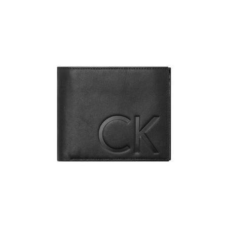 Initialled Leather Wallet Black