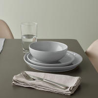 Intro Soft Grey 12 Piece Tableware Set Grey