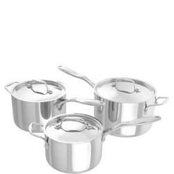 Lamina 3 Piece Saucepan Set Stainless Steel