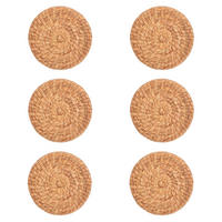 Water Hyacinth Round Placemats Set of 6