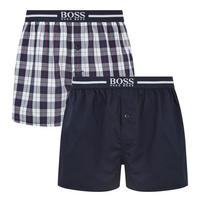 Two-Pack Woven Boxer Trunks