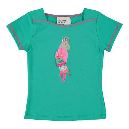 Sequin Parrot T-Shirt Green