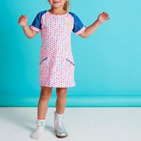 Spot Print Pocket Dress Pink