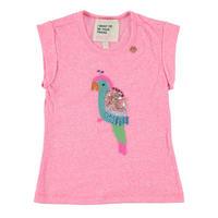 Sequin Parrot T-Shirt Pink