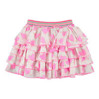 Heart Print RaRa Skirt Pink