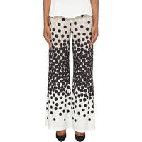 Circle Print Trousers Beige