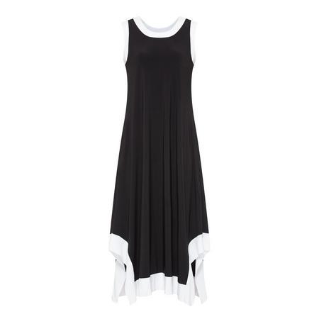 Contrast Trim Dress Black