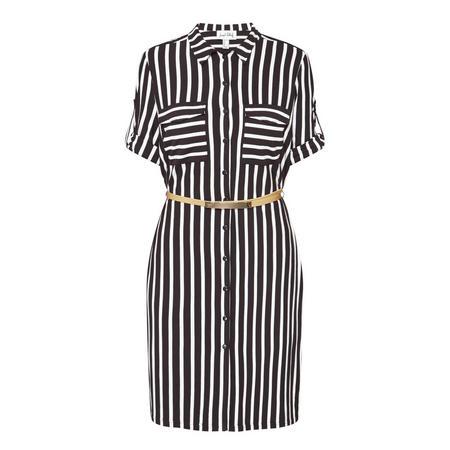 Striped Shirt Dress 182926
