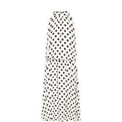 Polka Dot Dress White