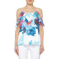 Printed Cold-Shoulder Top 182628