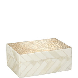 Fusion Hammered Gold Trinket Box Gold-Tone