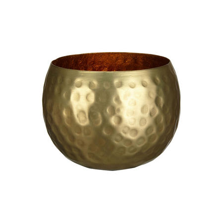 Hammered Tealight Holder Gold-Tone