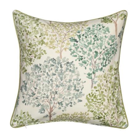 Leckford Trees Cushion Green