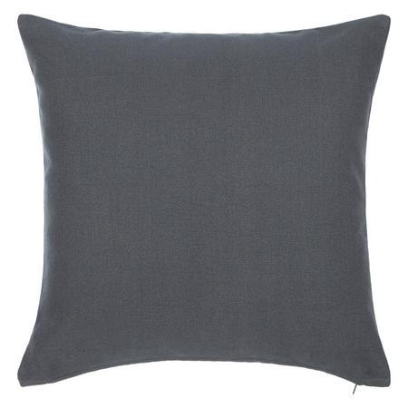 Plain Cotton Cushion Grey