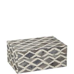 Grey Bone Trinket Box Grey