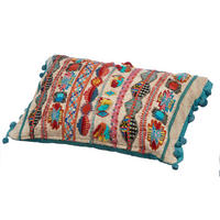 Kanha Embroidery Cushion Multicolour