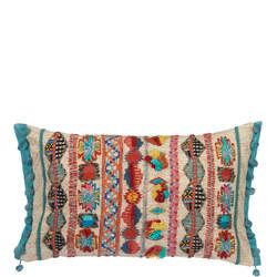 Kanha Embroidery Cushion Multicolour
