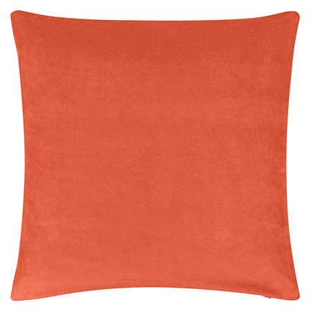Plain Velvet Cushion Orange