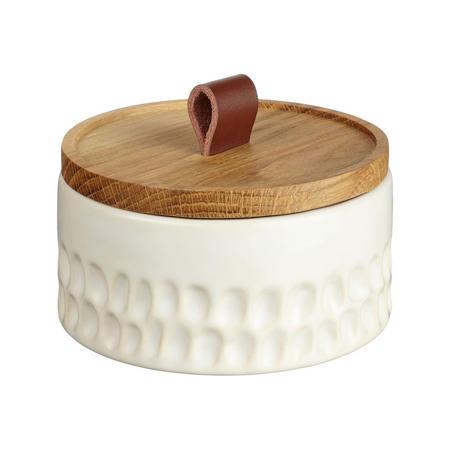 Croft Stoneware Squat Trinket Pot White
