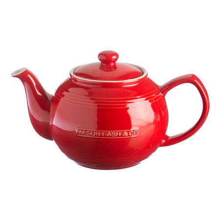 Red 6 Cup Teapot