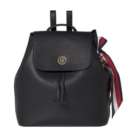 Embellished Drawstring Backpack Black