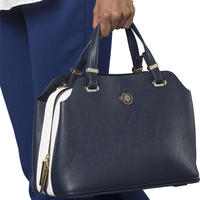Monogram Satchel Bag Navy