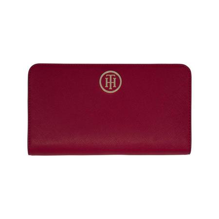 Monogram Zip Around Wallet Red