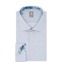 Como Geometric Print Formal Shirt