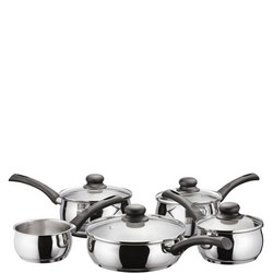 Vista 5 Piece Saucepan Set Stainless Steel