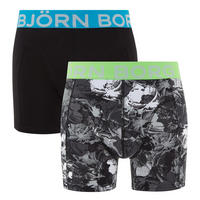 Two-Pack Camouflage Cotton Stretch Boxers Multicolour
