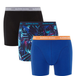 Three-Pack Palm Print Boxer Shorts Multicolour