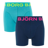 Two-Pack Cotton Stretch Boxers Multicolour