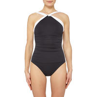 Cross Front Swimsuit Black