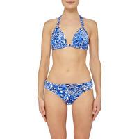 Playa Floral Print Bikini Bottoms Blue